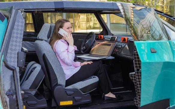 <p>Toyota uBox concept interior</p>