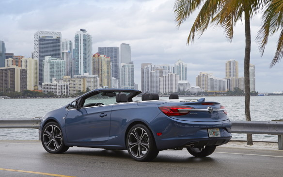 <p><strong>Highest-Ranked Compact Sporty Car: Buick Cascada.  </strong></p> <p>Runners-up: Mini Cooper and Hyundai Veloster/Mazda MX-5 Miata (tie)</p>