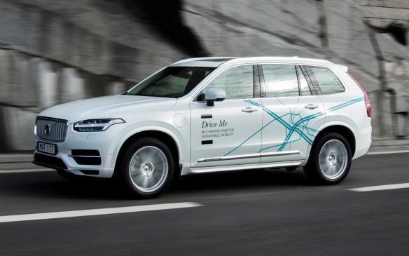<p>Volvo XC90 Drive Me test vehicle</p>
