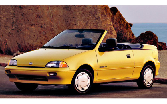 """<p>The """"any car can be a convertible"""" trend did attempt to gain a foothold in North America with the 1990 Geo Metro convertible (Pontiac Sunfire convertible in Canada), the lowest priced convertible in Canada. Performance and body integrity were not great but it offered open-air freedom to buyers who might otherwise be priced out of the segment. Quick acceptance resulted in a production increase in 1991 but the next year it was discontinued.</p>"""