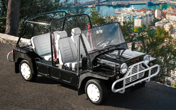 <p>We're not sure if the idea for the Evalia came from the Mini Moke, but that's what many who have been shuttled around Caribbean resorts will immediately think of. Ironically, the Moke was originally meant as a possible competitor to the original Jeep but was deemed too close to the ground to be taken seriously as a puddle jumper. Instead, it developed a cult following as a beach buggy and the rest is the stuff of legends.</p>