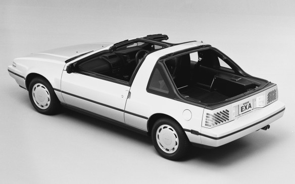 <p>The 2-seat Nissan Pulsar NX coupe is one of the most versatile compacts in history. In its second (and final) generation, it featured switchable rear panels that allowed it to go from notchback to wagon by replacing heavy panels (meaning it couldn't be done easily). However, it could go without either rear section and when the roof panels (T-tops) were removed, you had a convertible (with a structural barbehind the seats).</p>