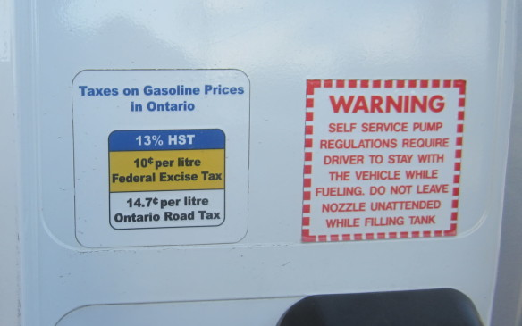 <p><em>Fixed Federal tax - $0.10;  Fixed Provincial tax - $0.147;  Sales Tax (HST) – 13.0%  </em></p> <p><em>Current retail price - $1.050/litre;  Total tax - $0.368/litre (35.0%)  </em></p> <p>Currently, Ontarians pay 36.8 cents per litre in total fuel taxes, which is a bit above the country average, but Ontarians are already griping about an additional 4.3 cents/litre gas prices that will take effect January 1, 2017 as part of Ontario premier, Kathleen Wynne's carbon cap and trade initiative.  </p> <p>Ontario is home to four large oil refineries, all clustered in the southwestern part of the province, but given the sheer size and population, they still aren't enough to satisfy its needs. It takes its wholesale prices and influences from the daily WTI rating on the New York Mercantile Exchange (NYMEX).</p> <p> </p>