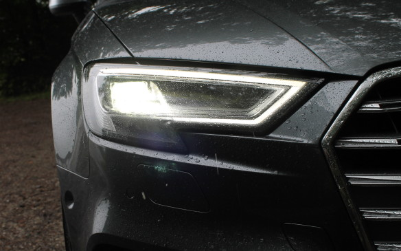 <p>In Europe, the A3 is available with matrix headlights, which have multiple bulbs and constantly adjust their beam to make sure oncoming drivers aren't dazzled. They're not legal in North America – yet .</p>