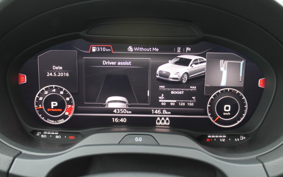 <p>Audi's flashy virtual cockpit display is now an option on all the A3s. It's being made available on every Audi. This is the eighth model line to feature it, with all relevant driving information displayed in high resolution on a 12.3-inch TFT screen.</p>