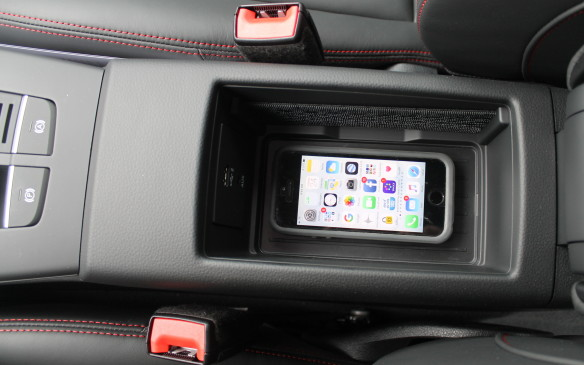 <p>There's also now a standard USB port, for hard-wiring cellphones, though a wireless charging tray in the centre console is an option.</p>