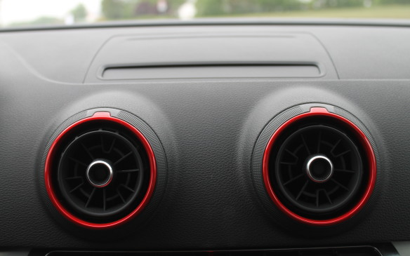 <p>It can be lowered too. This is the S3, with red dials around the vents to adjust their airflow.</p>