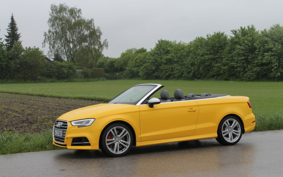 <p>It's too bad we don't get the S3 cabriolet – it's a lovely car to enjoy on a sunny day. Here in Germany, the weather didn't co-operate, but the S3 cab still looked good.</p>