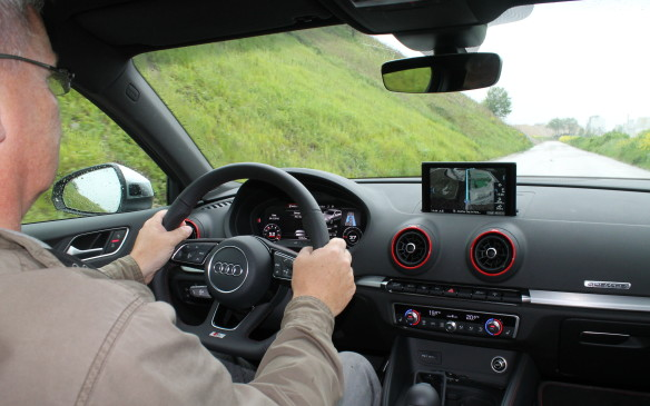 <p>The steering is firmer in the S3 than in the A3, and the dual-clutch six-speed is lightning fast to change gears with the paddle shifters – it's like a video game, but with consequences.</p>