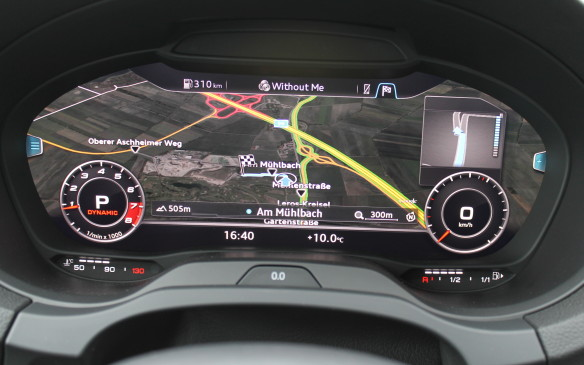 <p>The virtual cockpit can also display a separate Navigation map across the screen, so one map shows where you are and the other map, on the central IP screen, can show where you're going. In Europe, the centre screen can be linked to Google Maps to show the street view of your destination.</p>