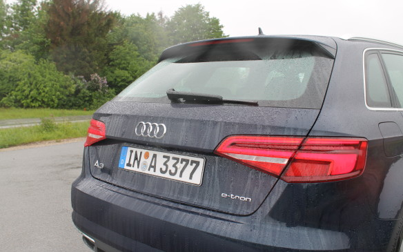 <p>The rear end is also redesigned to complement the front, with flatter LED taillights.</p>