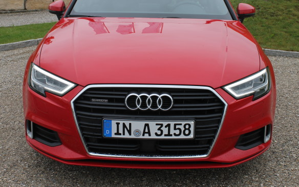 <p>All the new A3s and S3 have a redesigned front end with a wider grille and flatter xenon headlights, to make them look a little sportier.</p>