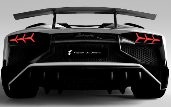 <p>Lamborghini Aventador in carbon fibre trim</p>