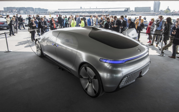 <p>Mercedes has given no indication of what that premium EV will look like but this futuristic F015 research vehicle may give some clue as to the brand's styling direction.</p>