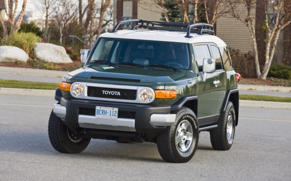 <p>Like the Wrangler, Toyota's retro-styled FJ Cruiser won a devout following, too. In fact, the hardcore 4x4 is commanding big bucks in the used-vehicle market ever since it went out of production in 2014. Assembled by Toyota's Hino truck division in Japan, it employed the stout 4Runner frame and chassis, complete with a double-wishbone front suspension and a four-link rear suspension with coil springs managing the live axle. All FJs have two main doors ahead of two rear-hinged mini doors for access to the back seat, with no pillars in the way. The sole engine is a 4.0-L DOHC V-6, good for 239 hp and 278 lb-ft of torque. FJ owners tout the truck as largely bulletproof.</p>