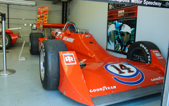 <p>The garage area included a tribute to four-time Indy 500 winner, AJ Foyt, with several of his historic cars on display, including this Coyote.</p>