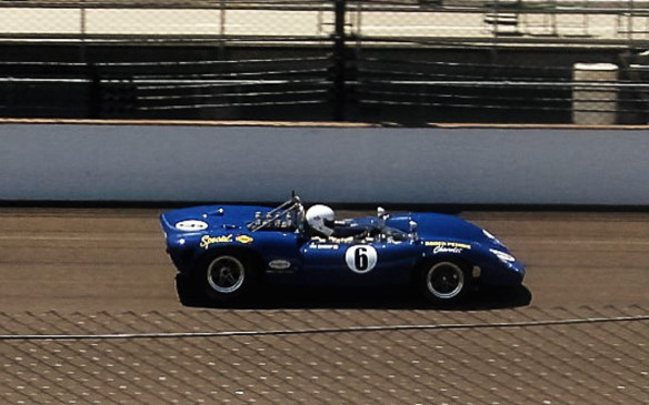 <p>There weren't a lot of original Can Am series cars at the event but this Lola T70 in Penske/Donohue livery was a standout.</p>