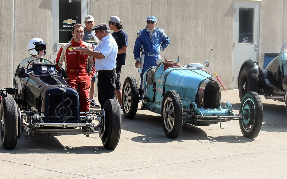 <p>Beyond just early Indy cars, the pre-war class included such European stalwarts as this 1938 ERA and 1925 Bugatti Type 35.</p>