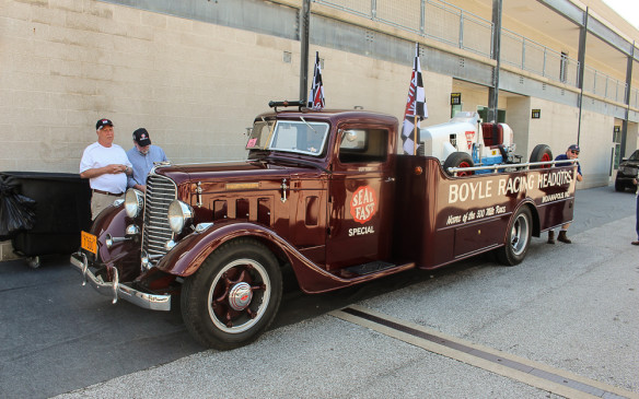 <p>It wasn't just the race cars that were vintage. Some, like this Boyle Racing Special, came in an equally vintage transporter - in this case a Diamond T.</p>