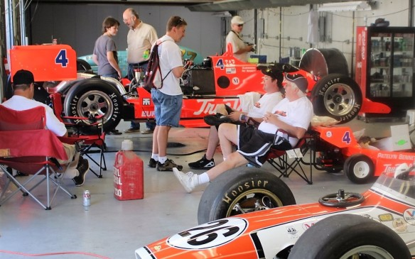 <p>Spectators were allowed to get up close and personal with the cars and the people preparing and driving them.</p>