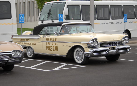 <p>There were several Indy 500 Pace Cars around the paddock as well, including this 1957 Mercury.</p> <p></p>