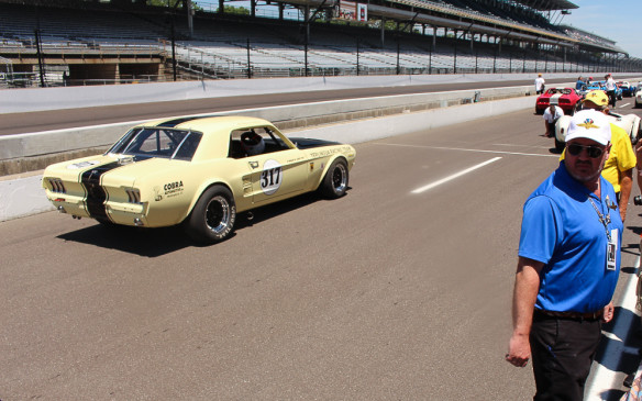 """<p>Among a large field of early Trans-Am era cars was this replica of the 1967 series-winning Terlingua Racing Team Mustang entered for Ford by Carroll Shelby and driven by Jerry Titus. Finished in what was dubbed """"<em>gawd-awful yellow</em>,"""" the original race team was named for a Texas ghost town which Shelby and his cronies owned and used for camping and partying. It was the inspiration for a series of 50 special-edition 2016 Terlingua Mustangs.</p>"""