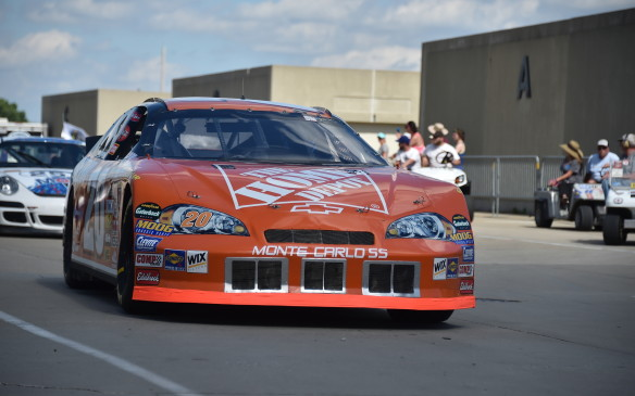 <p>At the opposite end of the spectrum, one of several NASCAR racers represented was this 2006 Monte Carlo in the Home Depot #20 livery of Tony Stewart.</p>