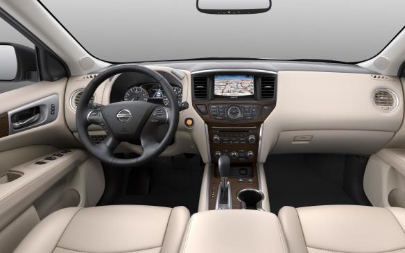 <p>2017 Nissan Pathfinder interior</p>