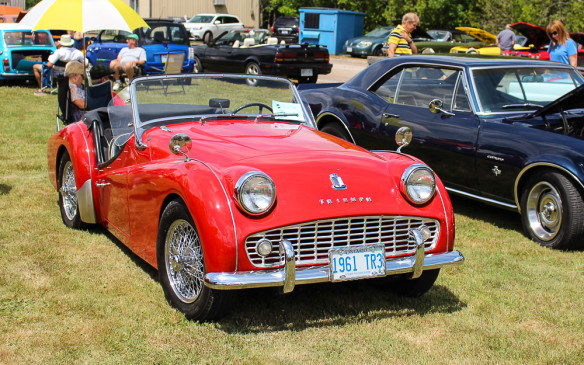 <p>Or a 1961 Triumph TR3? A twin to this one was the first real sports car I ever drove.</p>