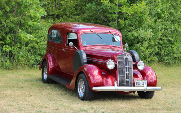 <p>That wasn't the only Fargo in the show. There was also this immaculate circa-1939 Fargo Sedan Delivery model.</p>