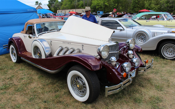 <p>Believe it or not, there was a car called the Gatsby, but it was from the era of the movie, not the character. It was built in very low volumes, initially on a late '70s Ford Thunderbird/Mercury Cougar chassis, and later sold as a kit car.</p>