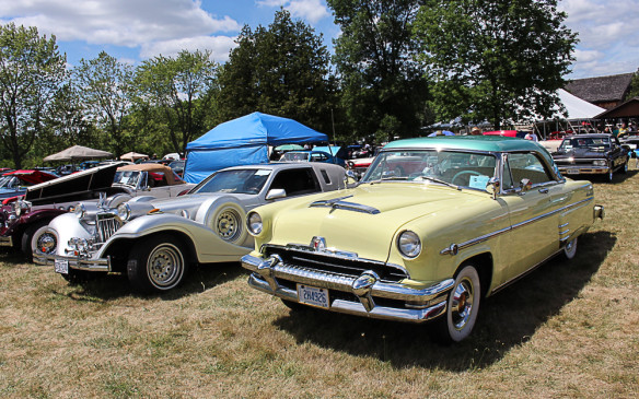 <p>Cruise nights and local car shows tend to be heavy on the usual suspects – Mustangs, Camaros, tri-five Chevys and all manner of muscle cars – but they can be a rich source of less-common classics as well. That's a '54 Mercury in the foreground and a Zimmer in the background.</p>