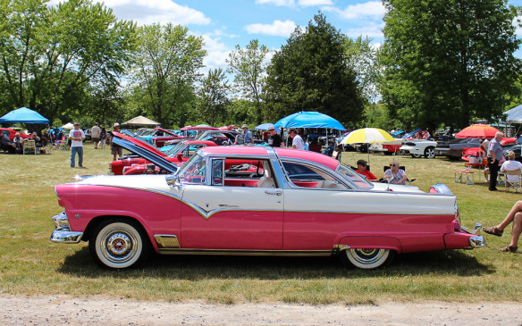 <p>Chevy had tough competition from Ford when it came to looks in 1956, as this Crown Victoria coupe clearly demonstrates.</p>