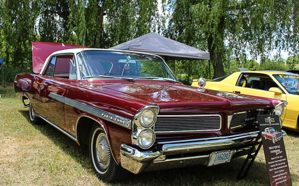 <p>Another Canadian-exclusive car is this '63 Pontiac Parisienne. It looks like a Bonneville but under the skin it's built on a Chevrolet chassis and it's powered by a Chevrolet engine. It was one of Canada's most popular cars in its time.</p>