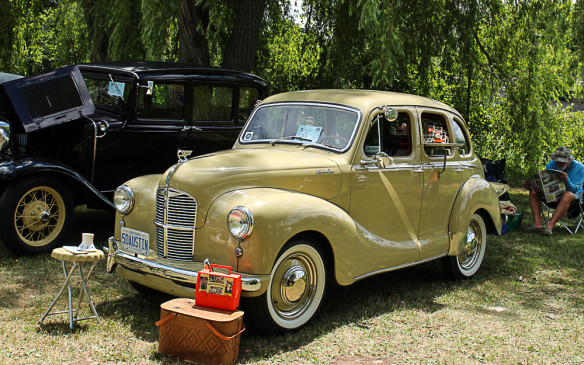 <p>Not all the cars were American. When is the last time you saw a 1950 Austin A40 Devon? They were very popular in Canada in the early '50s.</p>