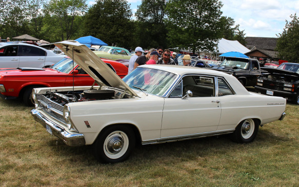 <p>From the outside, this 1966 Ford Fairlane 500 looks pretty mundane. But that little emblem ahead of the front wheel well gives away a big secret…</p>