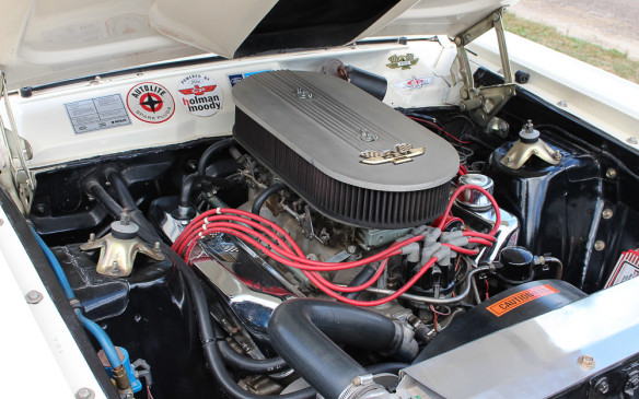 <p>Under the hood it's powered by a genuine NASCAR spec 427 cubic-inch engine – similar to that in the 427 Cobra and the Le Mans-winning Ford GTs.</p>