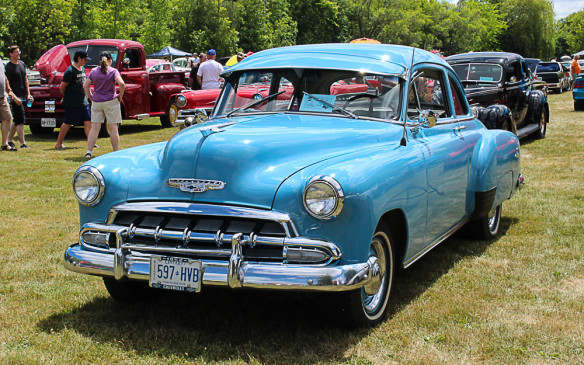 <p>From the same era, there seem to be fewer surviving Chevrolets than Fords. This '52 Chevy is an exception.</p>