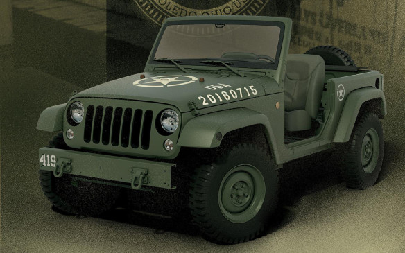 <p>Jeep Wrangler 75th Salute concept</p>