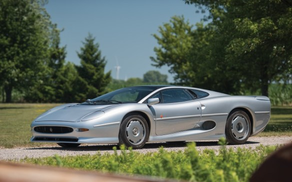 <p>Another Jaguar, this 1993 XJ220 could be a real bargain in comparison in pure dollar terms. One of just 281 examples built between 1992 and 1994, its 542-hp twin-turbo V-6 engine could propel it to 200 mph (360 km/h), making it the world's fastest production car of its time. And this one is United States-legal example. It could potentially be yours for a mere <strong>$250,000-$325,000</strong> (USD) at RM Sotheby's.</p>