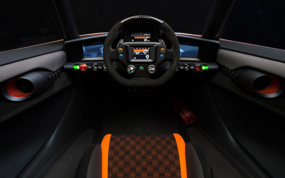 <p>Nissan BladeGlider cockpit</p>