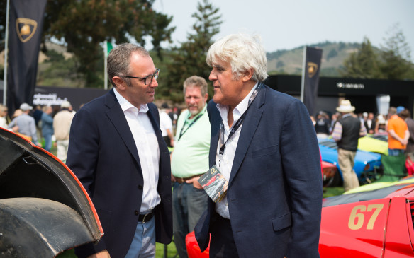 <p>And, of course, Jay Leno, shown here chatting with Lamborghini CEO Stefano Domenicali.</p>