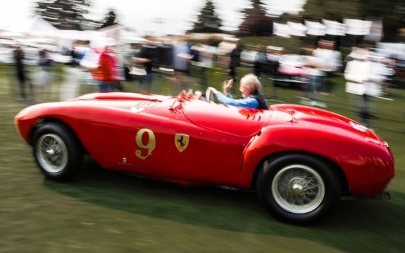 <p>This 1953 Ferrari 375 MM Pinin Farina Spyder won the Rolex Best of Show award at The Quail.</p>