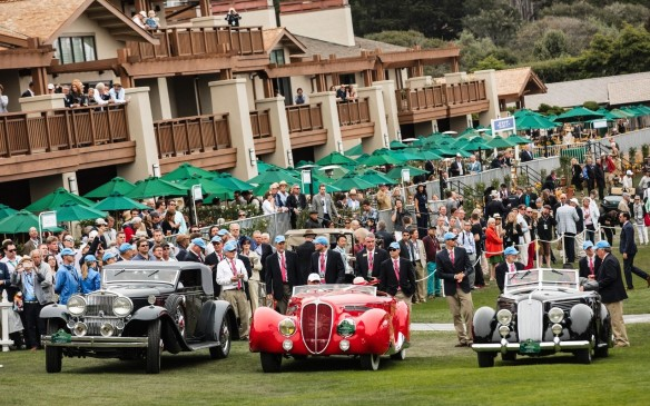 <p>The three finalists for Best of Show were (from left to right): a1931 Stutz DV-32 LeBaron Convertible Victoria; a 1938 Delahaye 165 Figoni & Falaschi Cabriolet; and a 1936 Lancia Astura Pinin Farina Cabriolet</p>