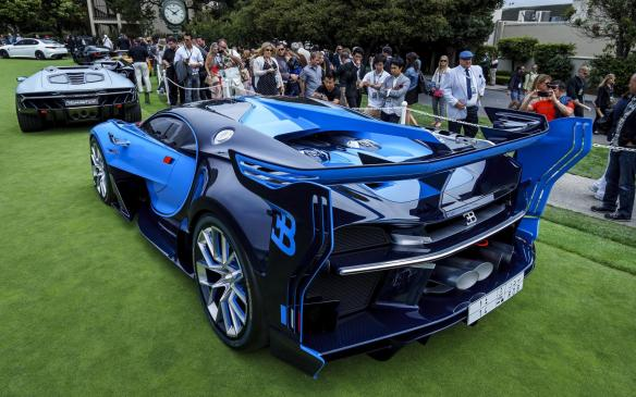 <p>Among those concepts was this Bugatti Vision GT, developed first digitally for the PlayStation video game Gran Turismo. It made its North American debut at Pebble Beach.</p>