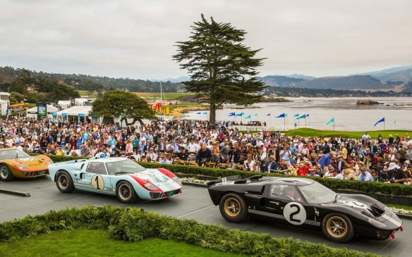 <p>There were sports cars back at the Concours, too – including a phalanx of Ford GT40s honouring the 50th anniversary of that car's first victory in the 24 Hours of Le Mans. These were the three finalists in Concours judging for that special class.</p>