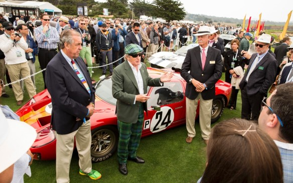 <p>While the cars were clearly the stars of the show, there were plenty of human stars there as well. The who's-who of the automotive world on hand included Sir Jackie Stewart...</p>