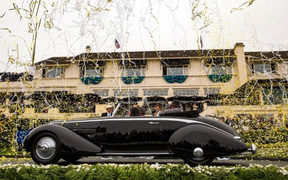 <p>The Best of Show winner at the 2016 Pebble Beach Concours d'Elegance was this 1936 Lancia Astura Pinin Farina Cabriolet. One of just six built, it was once owned by musician Eric Clapton and is now owned by first-time Pebble Beach entrant, Richard Mattei of Paradise Valley, Arizona.</p>