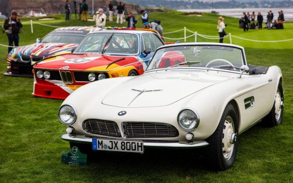 <p>There were cars of the stars, too, like this BMW 507 once owned by Elvis Presley.</p>