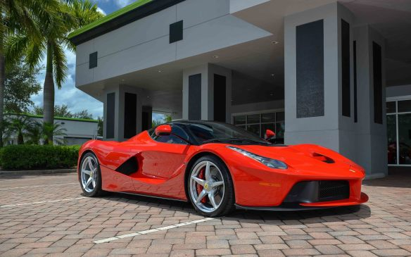 <p>At the Bonhams auction. held in conjunction with The Quail, this 2014 Ferrari LaFerrari sold for $3.685-million (USD).</p>
